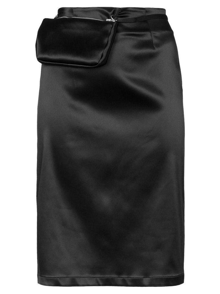 1017 ALYX 9SM detachable pouch satin pencil skirt - Black
