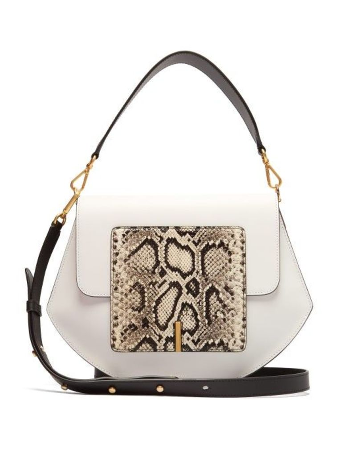 Wandler - Al Leather Cross Body Bag - Womens - White Multi