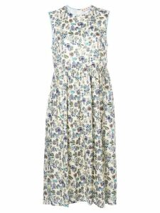 Marni printed smock dress - White