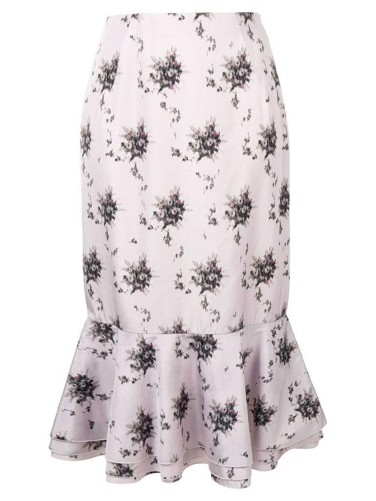 Brock Collection peplum hem skirt - Pink
