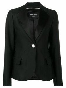 Giorgio Armani one-button fitted blazer - Black