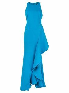 Badgley Mischka oversized ruffle dress - Blue