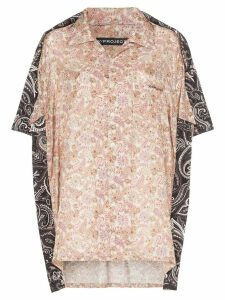 Y/Project oversized two-tone paisley print silk and cotton shirt -