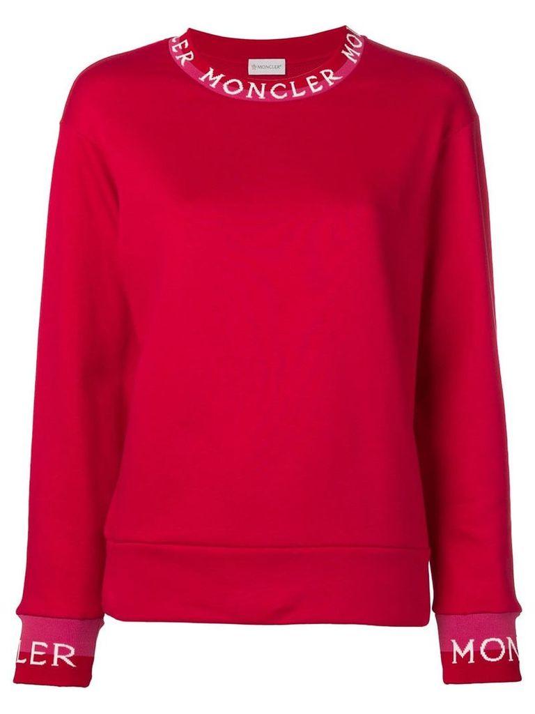 Moncler long neckline jumper - Red