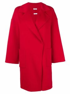 P.A.R.O.S.H. double breasted midi coat - Red