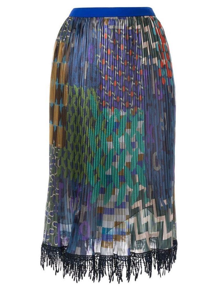 Kolor mixed-print pleated skirt - Multicolour
