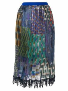 Kolor mixed-print pleated skirt - Multicolour