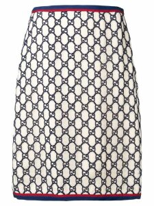 Gucci Supreme jacquard skirt - Neutrals