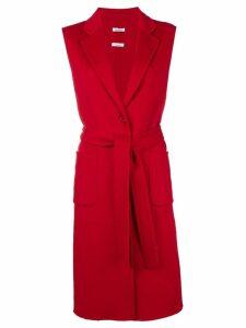 P.A.R.O.S.H. sleeveless midi coat - Red