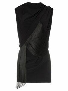 Rick Owens babel fringe detail top - Black