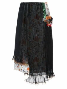 Kolor double layer pleated skirt - Blue