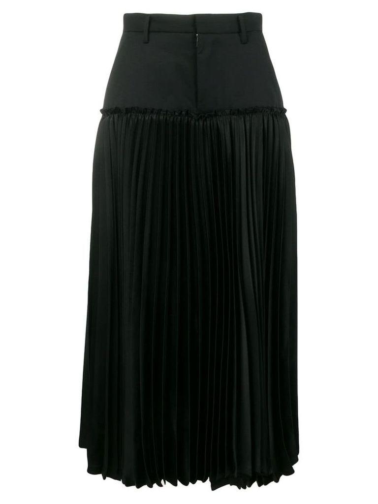 Comme Des Garçons Noir Kei Ninomiya pleated midi skirt - Black