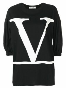Valentino VLOGO print top - Black