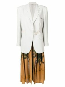 Natasha Zinko long tropical detail blazer - Grey