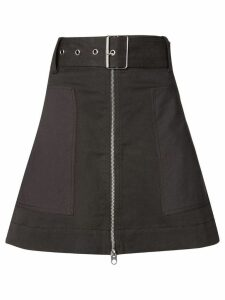 Proenza Schouler PSWL Belted Zip Skirt - Black