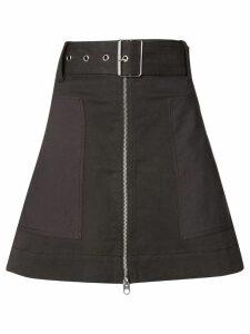 Proenza Schouler PSWL Belted Zip Skirt - Black