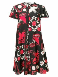 Red Valentino floral print shift dress - Black