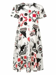 Red Valentino floral print shift dress - Neutrals
