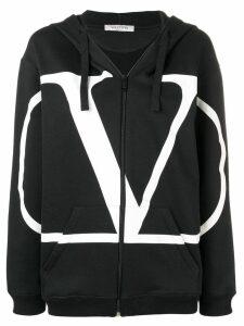 Valentino VLOGO zipped hoodie - Black