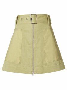 Proenza Schouler PSWL Belted Zip Skirt - Green