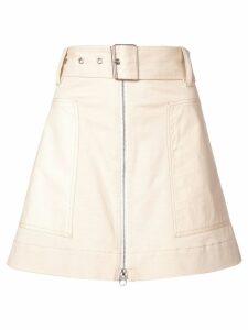 Proenza Schouler PSWL Belted Zip Skirt - White