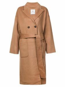 Anine Bing belted double-breasted coat - Neutrals