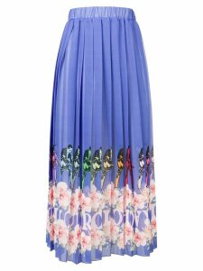 Ultràchic pleated printed skirt - Purple