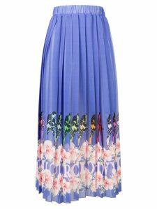 Ultràchic pleated printed skirt - PURPLE