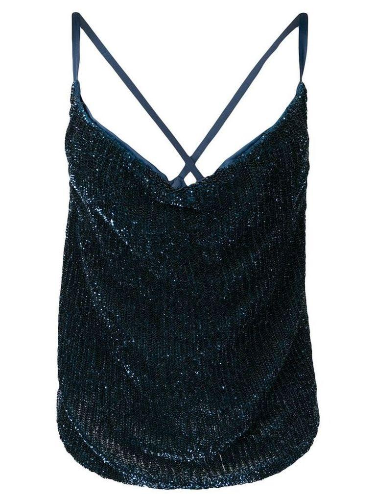 Retrofete sequined sleeveless top - Blue
