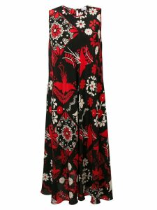 Red Valentino Terrace print dress - Black