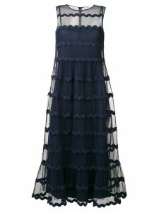 Red Valentino dotted tulle dress - Blue