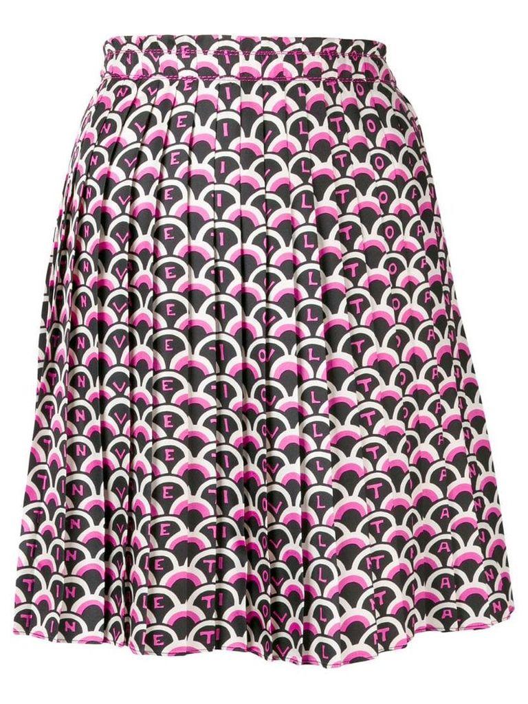 Valentino geometric logo pleated skirt - Pink