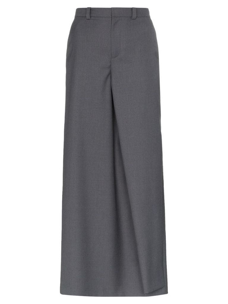 Y / Project trouser front wool blend maxi skirt - Grey