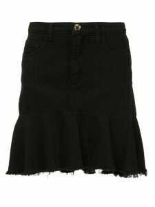 Nobody Denim ruffle-hem denim skirt - Black