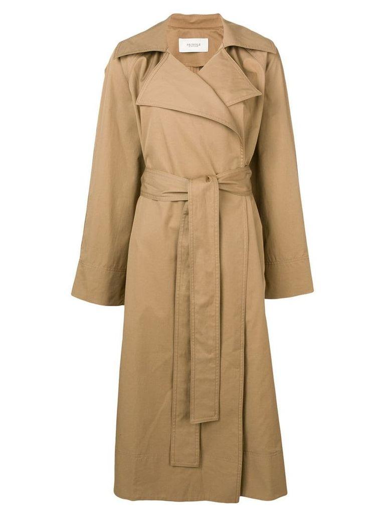 Pringle Of Scotland oversized trench coat - Brown