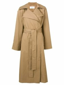 Pringle Of Scotland oversized trench coat - Brown