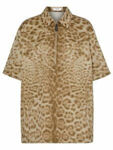 Burberry short-sleeve animal print shirt - Neutrals