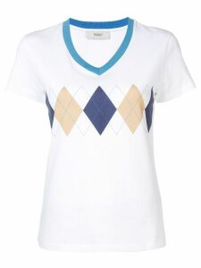 Pringle Of Scotland diamond print T-shirt - White