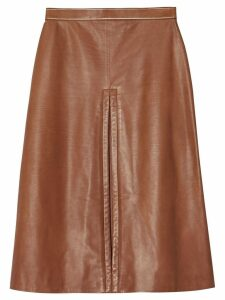 Burberry box pleat mid-length skirt - Brown