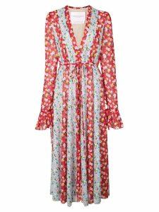 Carolina Herrera multi-floral print dress - Red