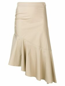 Pinko asymmetric skirt - Neutrals