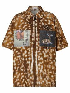 Burberry deer-print patch shirt - Neutrals