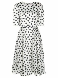 Carolina Herrera polka dot silk dress - White