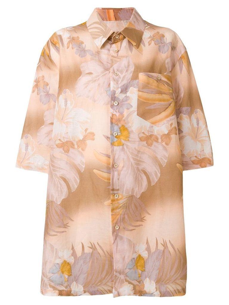 Maison Margiela oversized floral shirt - Multicolour
