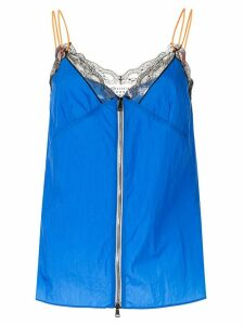 Maison Margiela lace detail vest top - Blue