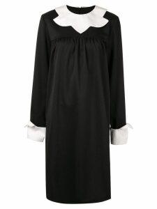 Mm6 Maison Margiela school uniform midi dress - Black