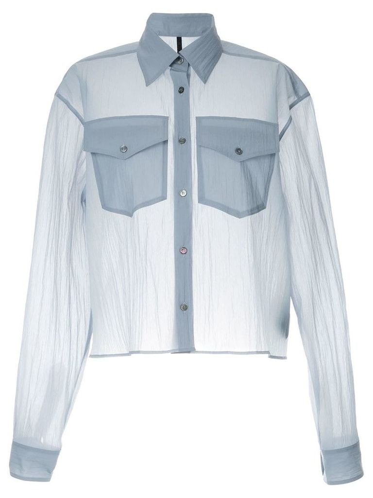 Unravel Project oversized sheer shirt - Blue