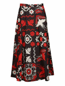 RED Valentino Printed Midi Skirt