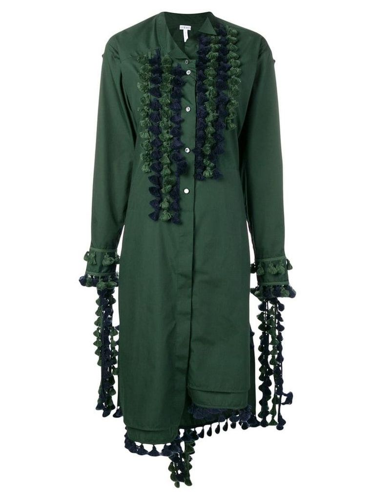 Loewe tassel embellished shirt dress - Green