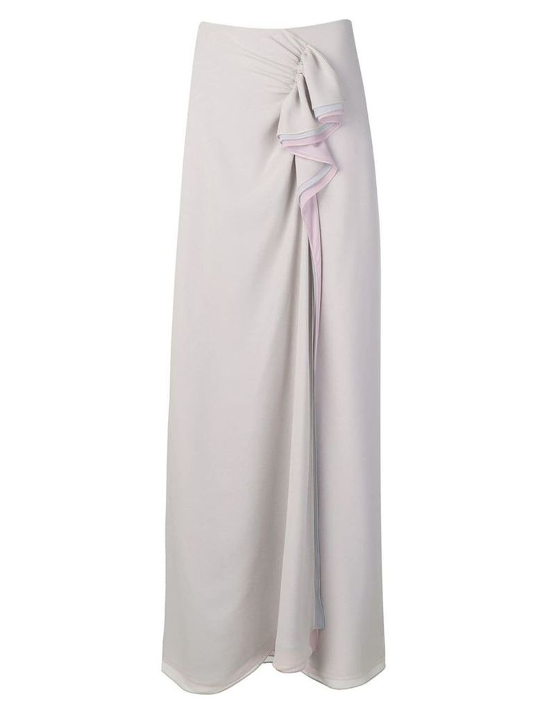 Giorgio Armani asymmetric wrap skirt - Grey